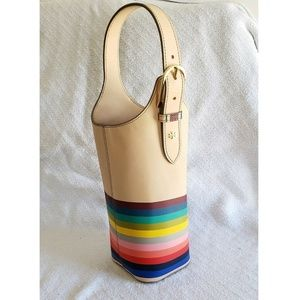 Tory Burch Rainbow Wine Carrier Tote Gift Bag
